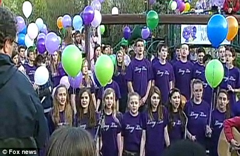 Classmates: The choir from Kelli's school sang her favourite song