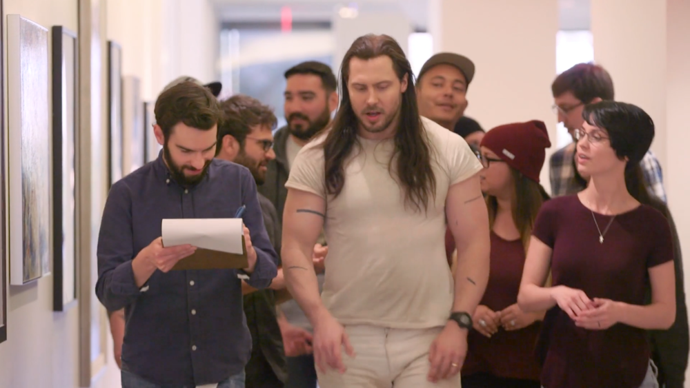 Andrew W.K. shares his vision with prospective voters at a recent meeting in Los Angeles.