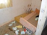 Four 'zombie'-like toddlers were found in filthy rooms 'covered in faeces', pictured, when police raided a property in Leyland, Lancashire