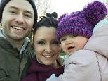Mat Wheeler, 30, pictured with his wife Nicola and their one-year-old daughter Erin