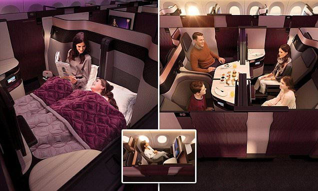 Qatar Airways launches first-ever DOUBLE BED in business