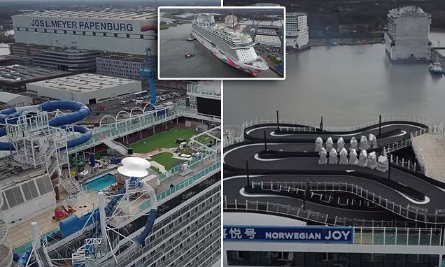 First-ever racing track on a cruise ship is unveiled