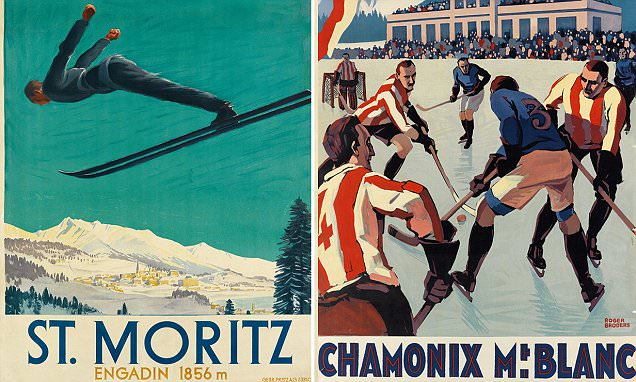 Vintage winter sports posters up for auction