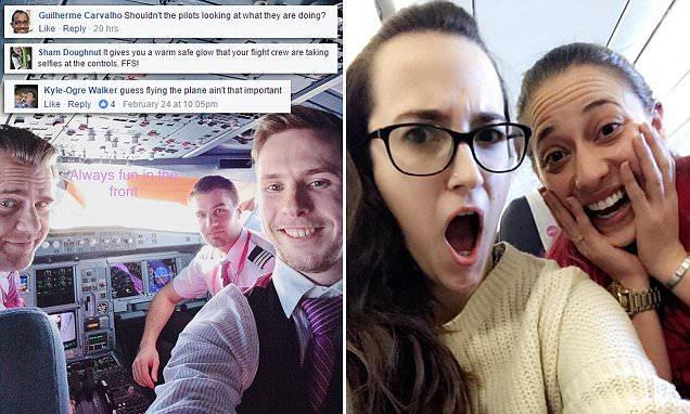 Wow air pilots send selfies to passengers mid-flight