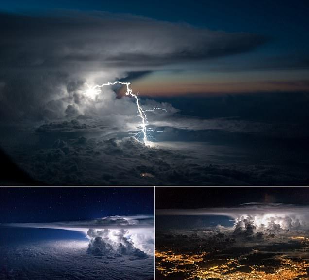 Airplane pilot captures lightning strike over the Amazon