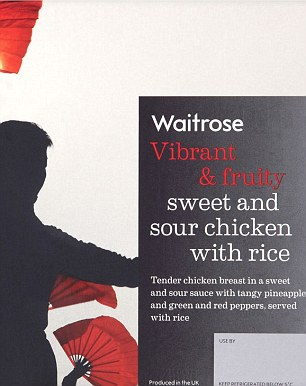 The Waitrose sweet and sour chicken with rice was found to have 38.9g of sugar per pack