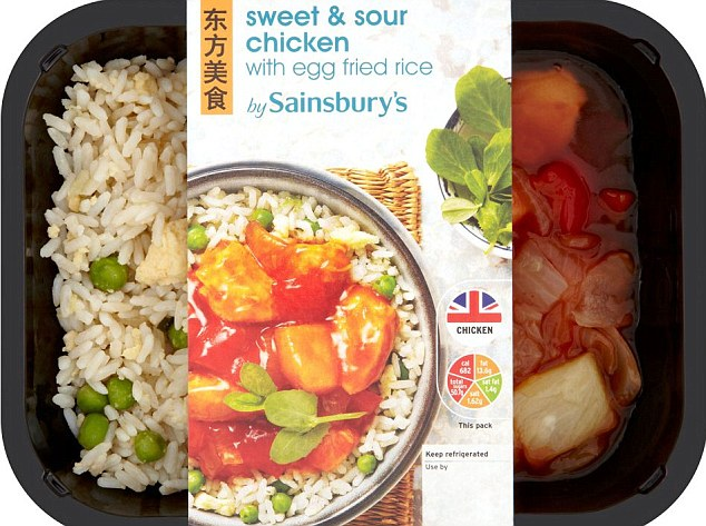 Some supermarket ready meals contain as much sugar as recommended per day for an adult. The worst offender was Sainsbury's sweet & sour chicken with rice, which was found to have 50.7g of sugar per portion