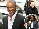Out and about: Barack Obama was out to lunch at Upland in new York City on Friday (above)