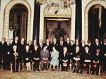 The autographed photo shows Charles meeting with the Privy Council after the Queen gave permission for her son to marry Diana