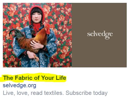 The Fabric of Your Life