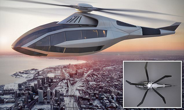 Bell unveils helicopter with radical shape changing blades