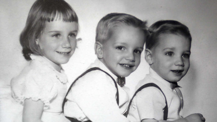 """Maureen, Terry and Chris Bowers, shown in a family photo from the early 1960s. Maureen says Terry´s slaying in 1970 destroyed their family. Their father died of a heart attack at age 47 in 1978. Their mother """"hasn´t done well since,"""" Maureen said recently. """"This punched a hole in our world."""""""