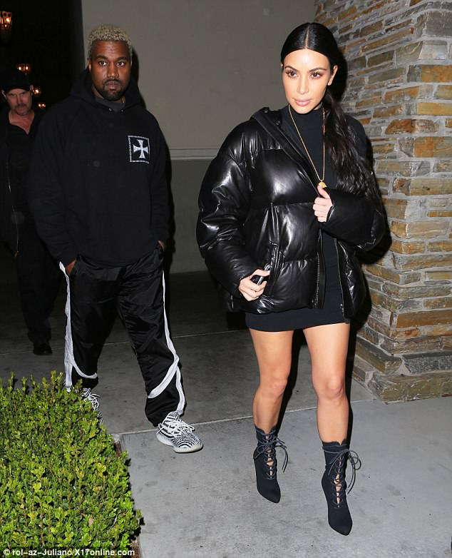 Whose date is it? Kim and her husband Kanye West had reportedly headed out to see The Shack