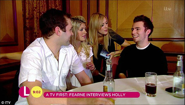 Not long:In the derisive attitude to their brief career move, the ladies looked back at the clip as Fearne stated: 'About 10 years ago we did a dating show'