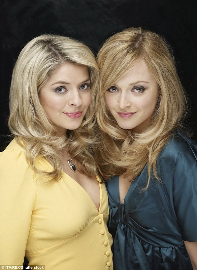 Fresh faced: The girls looked astonishingly youthful in a promo snap forHolly & Fearne Go Dating