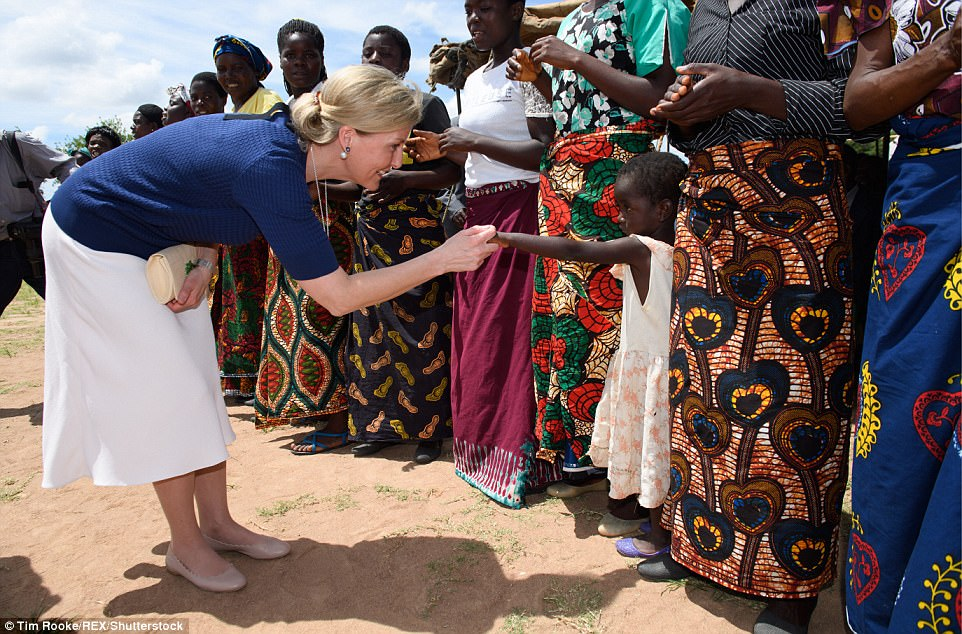 The Countess of Wessex is in Malawi to see the work being done to end avoidable blindness