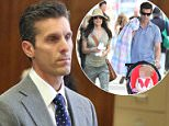 Legal issues:Jason Hoppy appeared in a Manhattan courtroom on Monday morning (above)