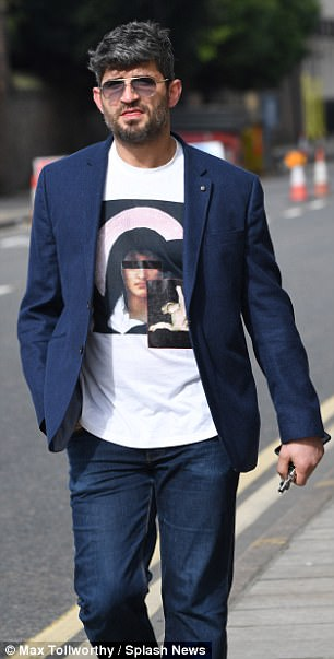 The former hairdresser (pictured) did not comment on Michael's funeral, but commented that the weather was 'beautiful' and told reporters to have a 'lovely day'