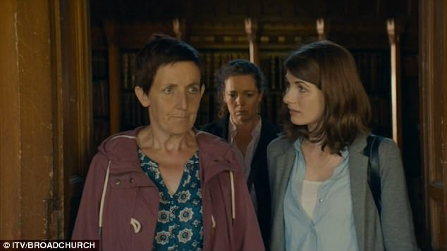 Shock: In the new trailer, a devastated Trish, played by Julie Hesmondhalgh, is seen joining Beth Latimer, (R) ,DS Miller (centre) and DI Hardy at the house where the assault took place