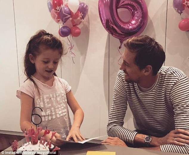 Big day! Earlier in the day, she shared a shot of her daughter Sophia celebrating her sixth birthday with her doting dad Peter Crouch