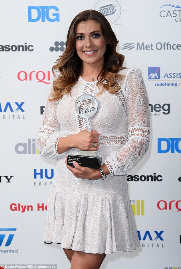 Taking the prize: The Soap Personality Award went to Kym Marsh from Coronation Street, instead
