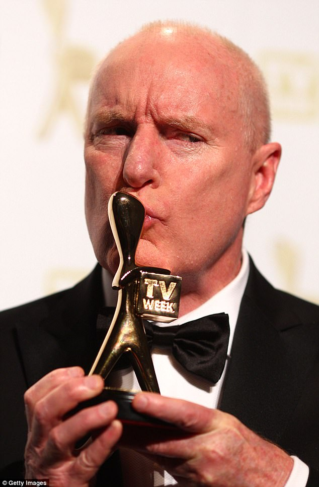 Award-winning actor: Ray's stellar performance as the iconic character was truly recognised in 2010 when he won the coveted Gold Logie award - Australia's highest television honour - at the TV Week Logie Awards