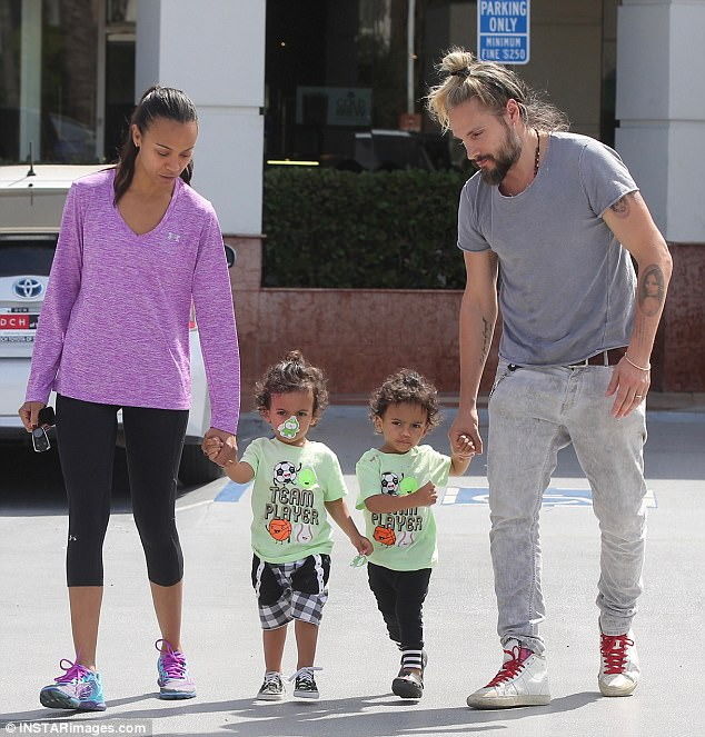 Aww:The youngsters are now big brothers to baby boy Zen