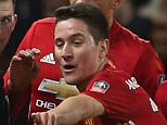 Ander Herrera was sent off in Manchester United's 1-0 defeat by Chelsea on Monday night