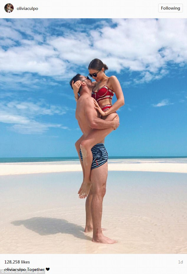 Hooked:Olivia Culpo has been enjoying a beach vacation with her NFL star beau Danny Amendola in Miami