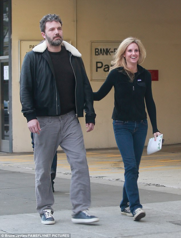 Having issues: In January, Affleck was spotted out in Beverly Hills with Elizabeth Weaver, who offers sober living companionship through her company Concierge Nursing Care