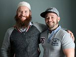 Brothers Adbul-Rahmaan Tobin, left, formerly Sean, and Lee Hadley, right, have led very different lives growing up, with Mr Tobin converting to Islam and Mr Hadley becoming an English Defence League supporter