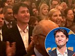 The room where it happened: Justin Trudeau and Ivanka Trump gave a standing ovation after attending opening night of the new play 'Come From Away' (above)