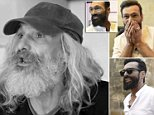 As he was: Jose Antonio, who has been homeless for 25 years,walked into the salon with grey unkempt hair and a straggly dirty beard
