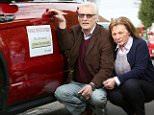 Trevor and Ann Heley have put a poster on their Range Rover Evoque after encountering a series of problems with it
