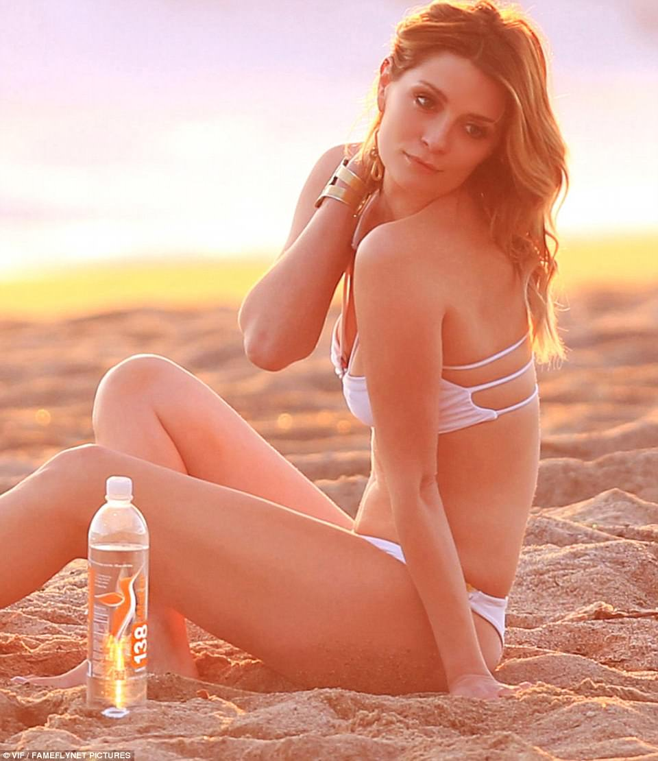 Model figure: Mischa Barton was spotted posing for a bikini photo shoot in Malibu on Monday, in pictures obtained exclusively by DailyMail.com