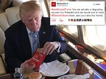 Strong words:The McDonald's Twitter account posted a message early Thursday morning attacking President Donald Trump (above)