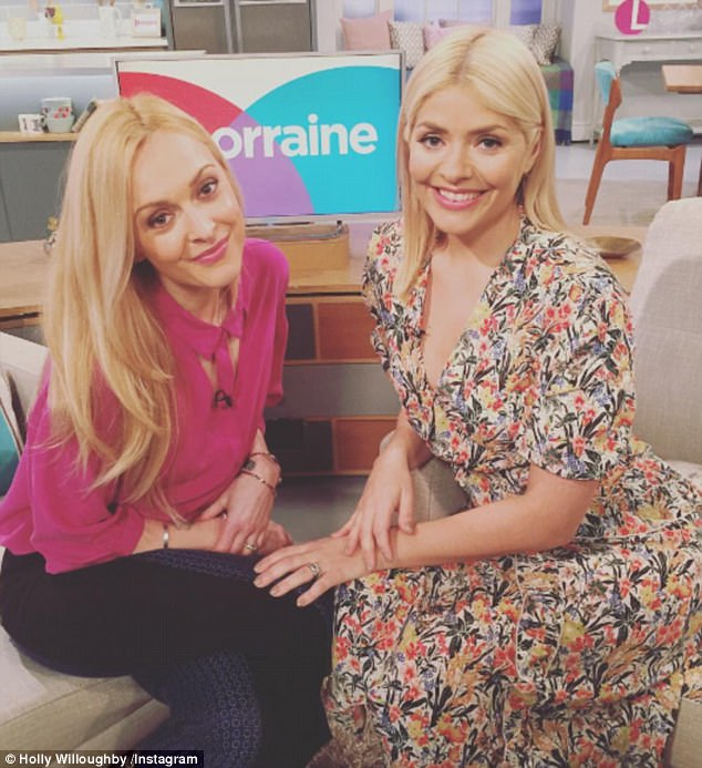 Stunners: Holly looked sensational on the show as she wowed in a £225 dress from Topshop Unique