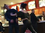 A brawl broke out in a burger bar