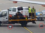 Cases, many of which will have been carefully packed and filled with souvenirs, were hurled by baggage handlers after passengers landed at London Luton airport