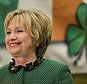 Hillary Clinton speaks at the Society of Irish Women's annual dinner on St. Patrick's Day in her late father's hometown in Scranton, Pa., Friday, March 17, 2017. (AP Photo/Matt Rourke)