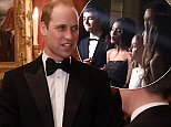 Prince William looked decidedly stony-faced as a French choir sang Pharrell Williams' hit song Happy - the same tune he 'dad danced' to over the weekend in Verbier