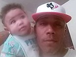 Dead: Rodney Hess (pictured with his daughter), 36, was shot dead by cops on Thursday while filming his traffic stop. Police say he tried to drive towards them twice before they shot him