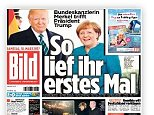 Although the German Chancellor and US President were pictured smiling together, press reports have pointed out the tension between the two