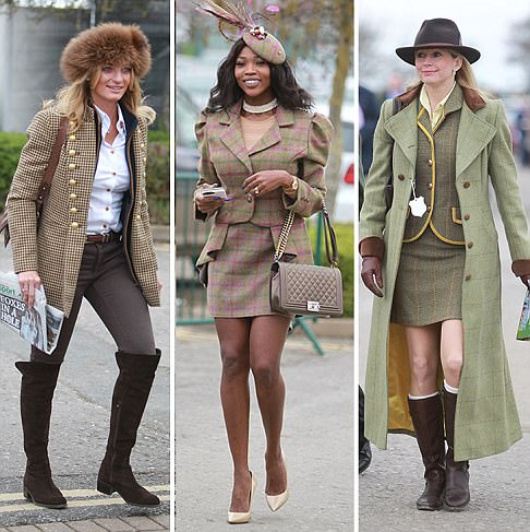 Revellers put on a VERY glamorous display on the first day of Cheltenham