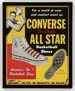 Cartel Zapatillas converse
