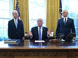 Don't blame me!'The losers are Nancy Pelosi and Chuck Schumer,' Trump claimed, naming the Democratic Party's leaders in the House and Senate, 'because now they own Obamacare. They own it. One hundred per cent own it.' He was flanked by Tom Price, the health secretary, and Vice President Mike Pence in the Oval Office