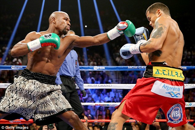 Last Saturday Mayweather received a $100millon check after beatingManny Pacquiao in the boxing ring in Las Vegas