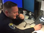 Putting the phone in phoney: Officer Kyle Roder (pictured) filmed himself calling back a fake IRS agent who had threatened to arrest him. The video has gone viral, hitting 3.4 million views