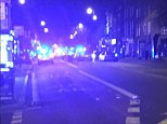 Three people have been injured at a busy London nightspot after a driver mounted the pavement and mowed them down
