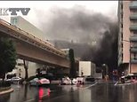 Gangsters made off with jewellery from a Cartier store in Monte Carlo, after starting a fire in a nearby tunnel to distract emergency services